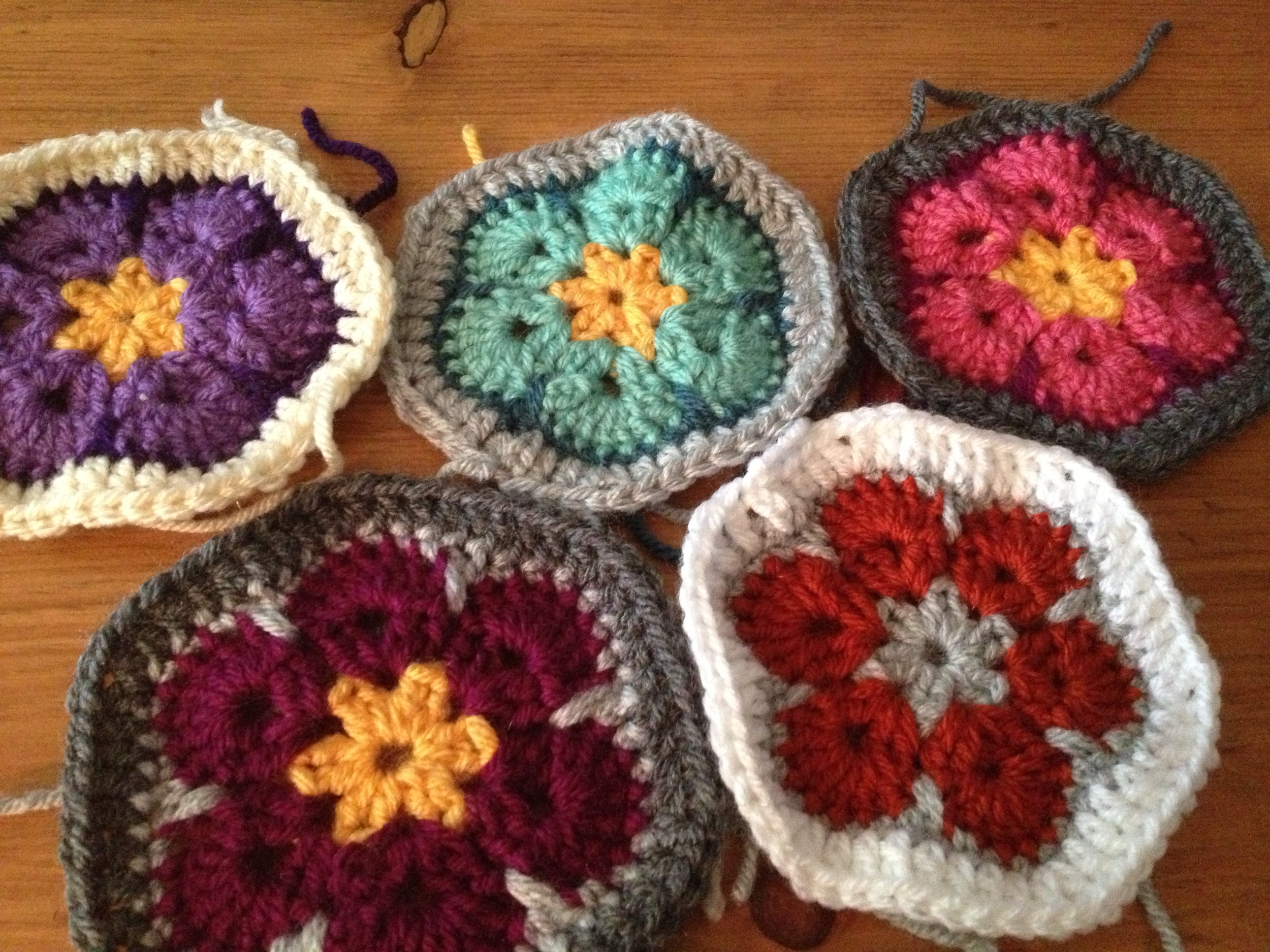 Crocheted Hexagons