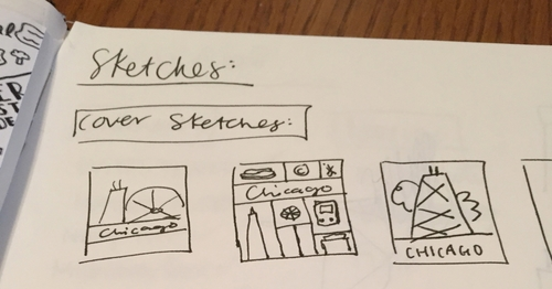 Brittany Campbell's sketches for her children's book about Chicago.