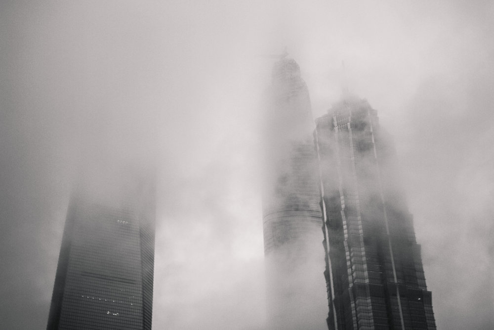 Metropolis Skyline // Shanghai, China // 2014 // 120mm Film