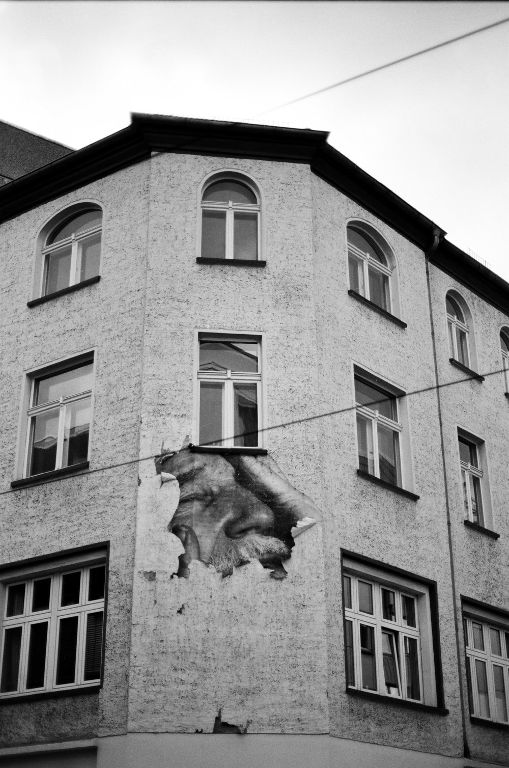 Hiding.Fading // Street Art // Berlin, Germany // 35mm B&W Film // 2014