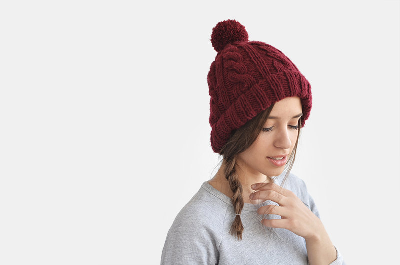 b343aefae7d Cable Knit Beanie — Ruby Tyger