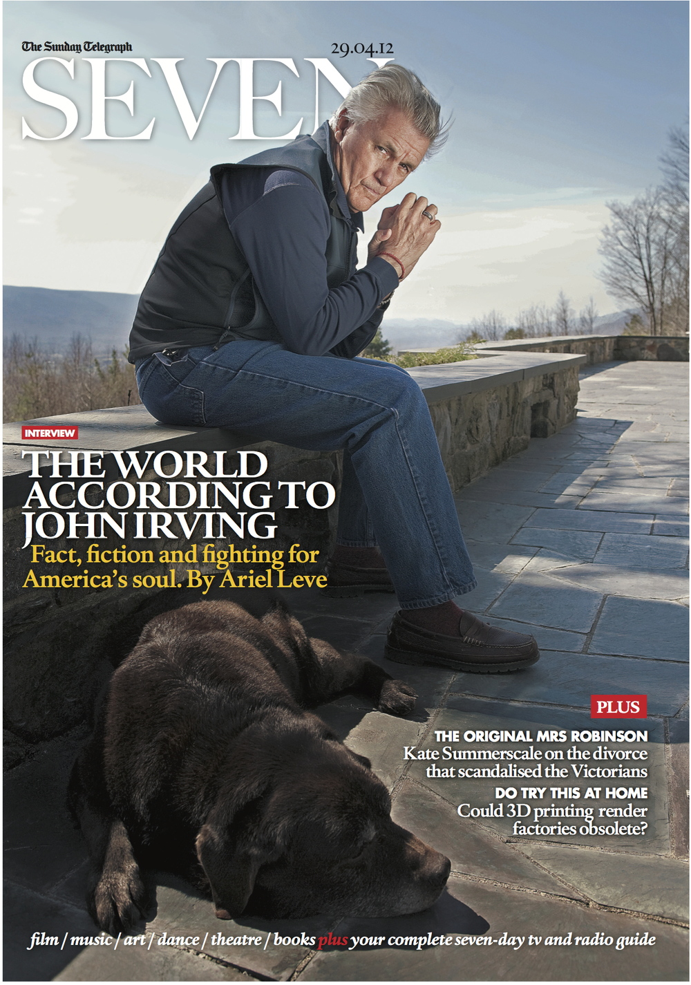 Sunday Magazine photo Blake Fitch of John Irving cover.jpg
