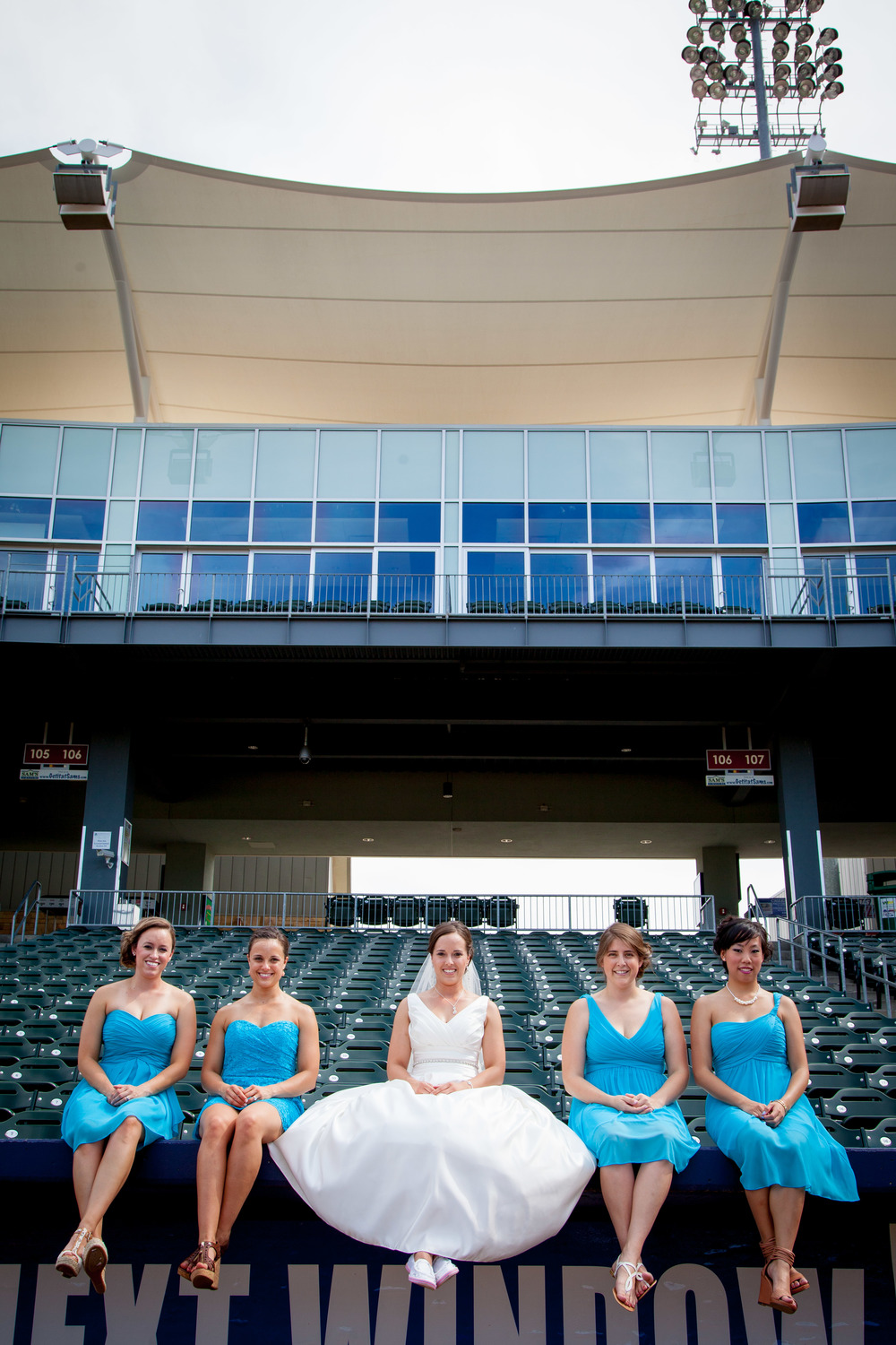 """You probably don't want to sit on the dugout in your white dress, right?"" ""Sure! Why not?"""