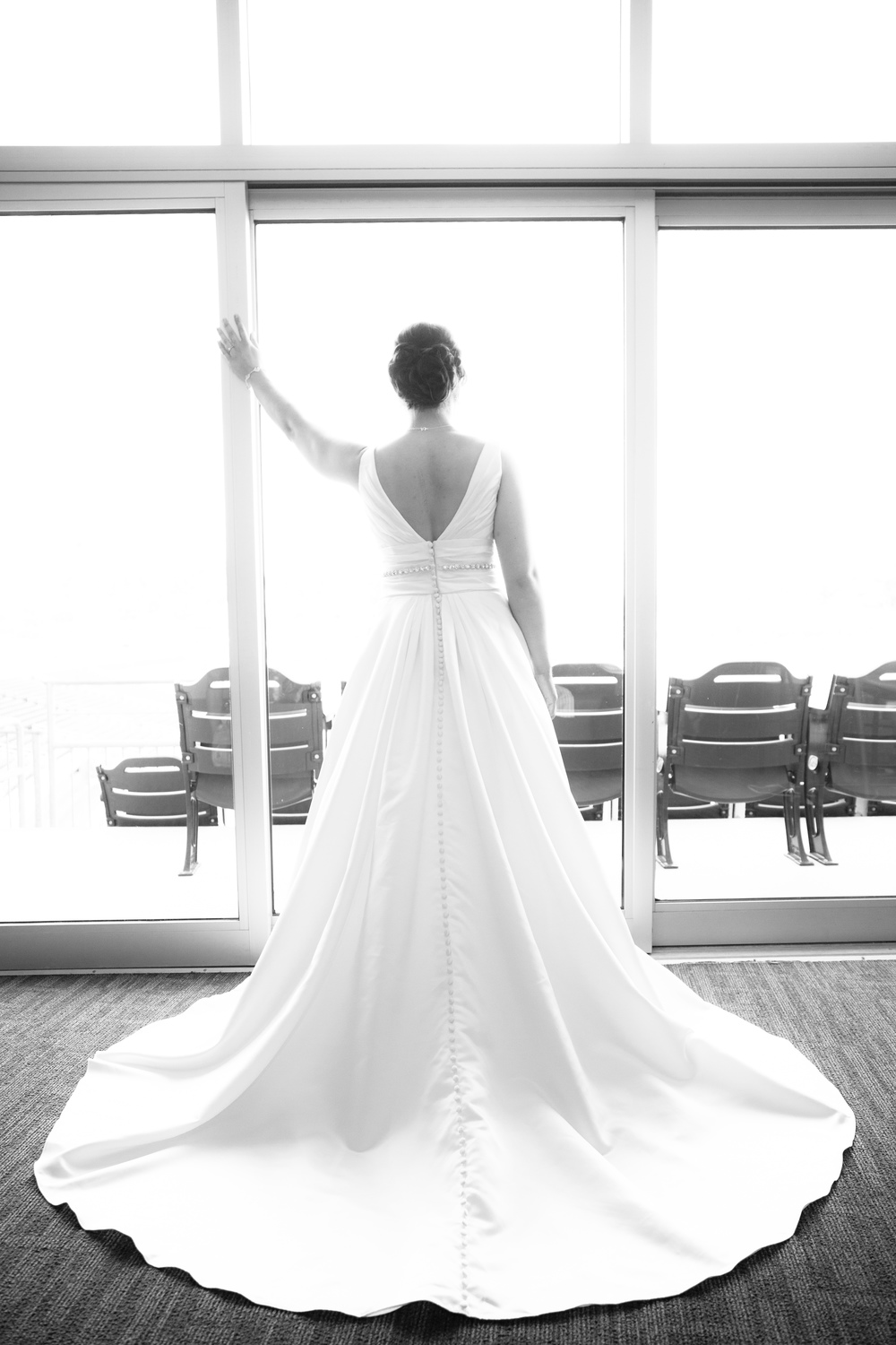 From one of the suites. Those are buttons running all the way down the dress. Seriously though. So beautiful.