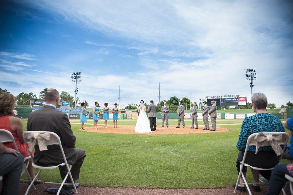 Who needs an alter or arch when you have a Home Plate?