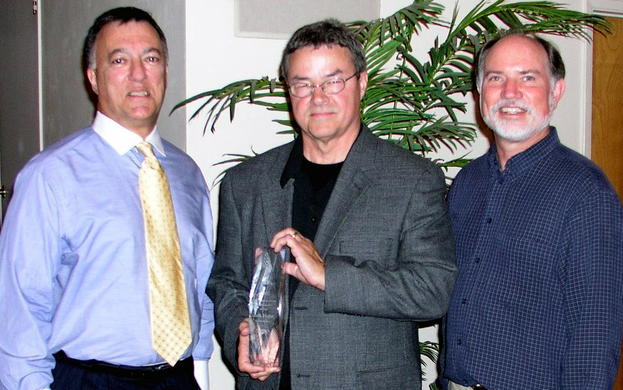 Pictured are Hal, Jack Hafer (recipient of the award) and Denny.
