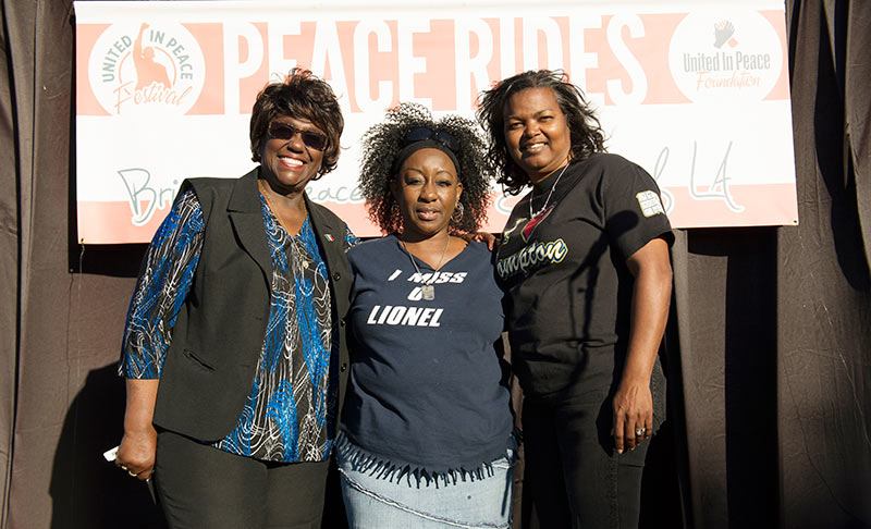 Compton Mayor Pro Tem Lillie Dobson and Vicky Lindsey of Project Cry No More