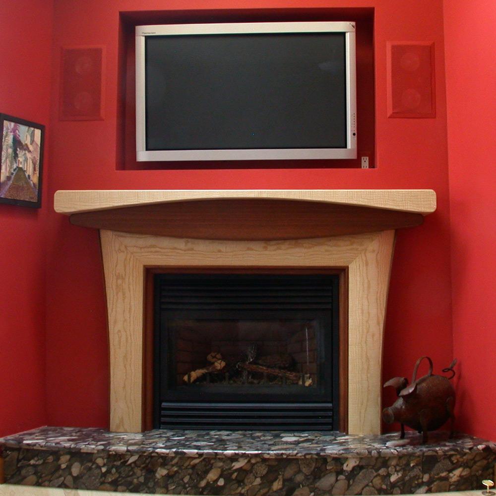 Ash & Paduk fireplace suround