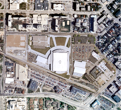 An updated orthophoto with new construction.