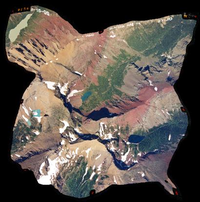 6 image mosaic of Glacier Park