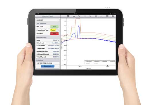 Crystal Instruments' EDM software is available as an app for the iPad.