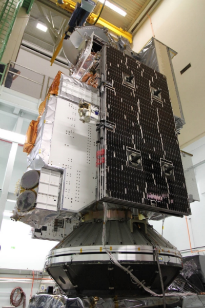 GPM completes satellite vibration tests on a shaker. Image credit: www.NASA.gov. This post is not endorsed by NASA.
