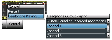 Figure 6. Select the Channel for Headphone Listening