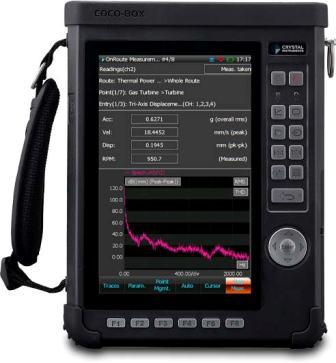 CoCo-80X Handheld Vibration Data Collector with Touchscreen