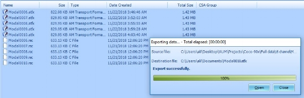 Figure 5 File Conversion in EDM CoCo-DSA software