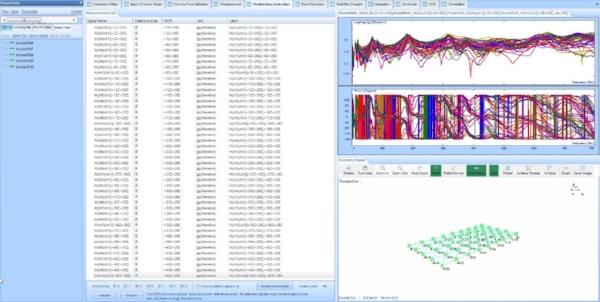 Figure 6 Modal Data Selection in EDM Modal software