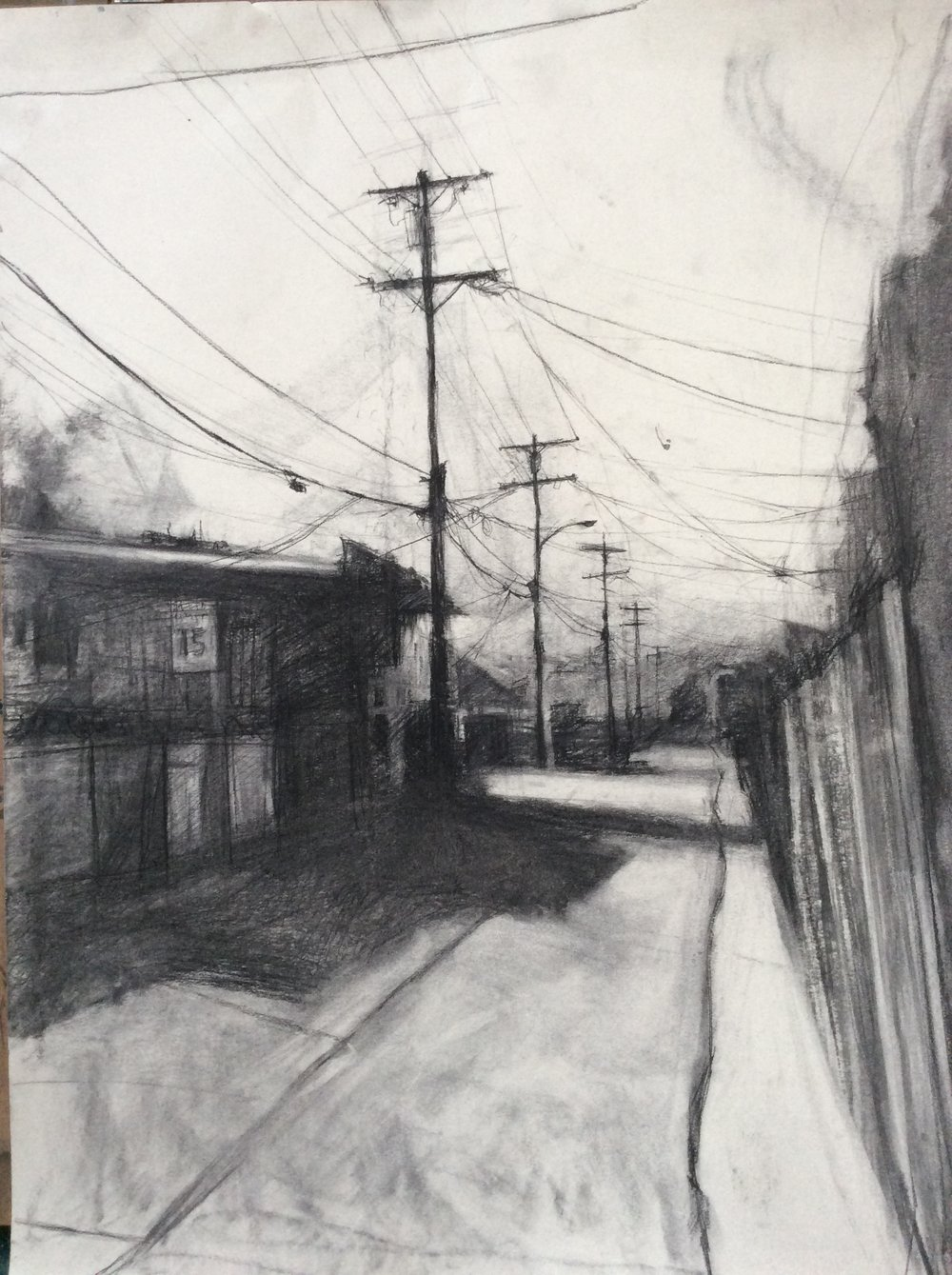 Silver lake Alley  charcoal