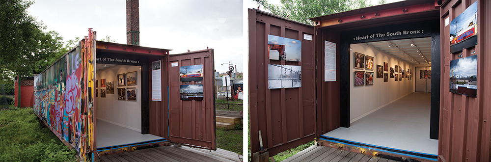 ''HEART OF THE SOUTH BRONX: TRADES' installation at THE POINT's Art Container