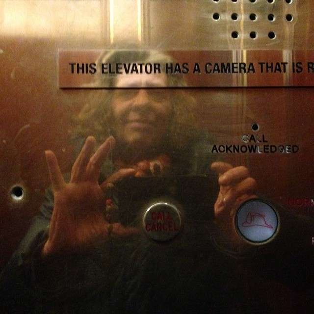 This elevator has a camera …  #selfie #camera #elevator #pausesandplanes