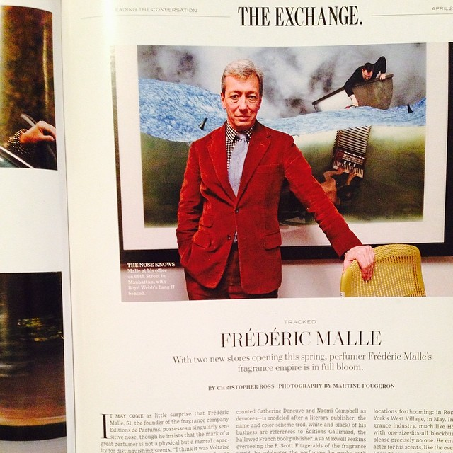 Check out the Wall Street Journal Magazine tomorrow to find out about the perfumer Frederic Malle whom I photographed and tracked for a day in his perfumed world. In the Taste issue with Scarlett Johansson in cover.. Many thanks to @jenpastore @wsjmag #perfume #fredericmalle #wsjmagazine #editionsdeparfums