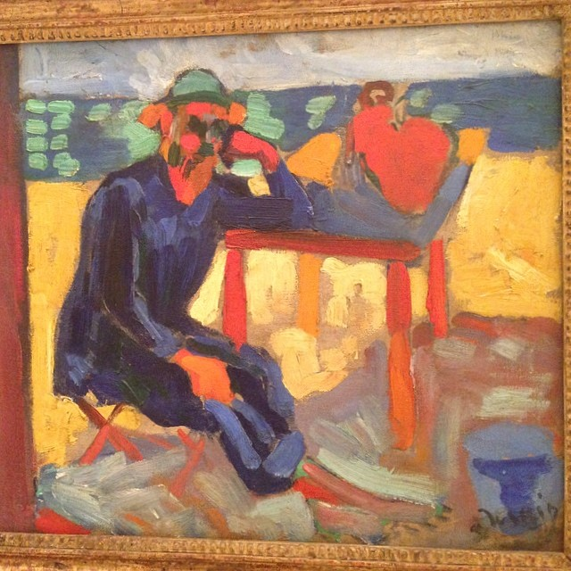 Matisse by Derain at the Barnes. Fauve buddies. #thebarnesfoundation  (at the barnes foundation)