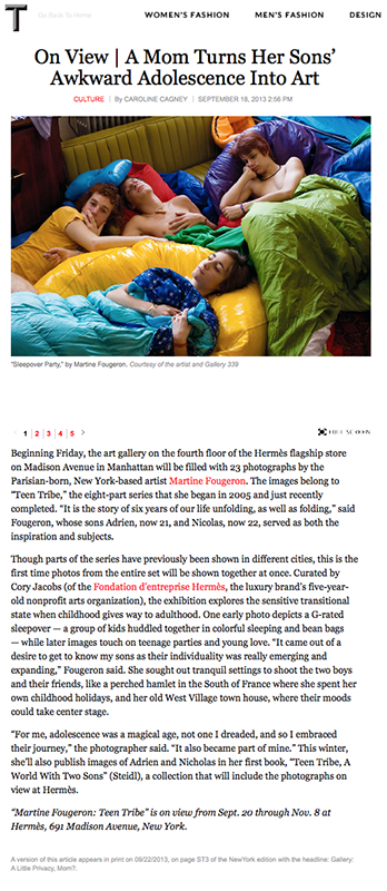 New York Times, T magazine, 09/20/2013