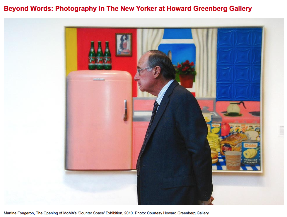 Group Show: Beyond Words at Howard Greenberg, NY. 2013