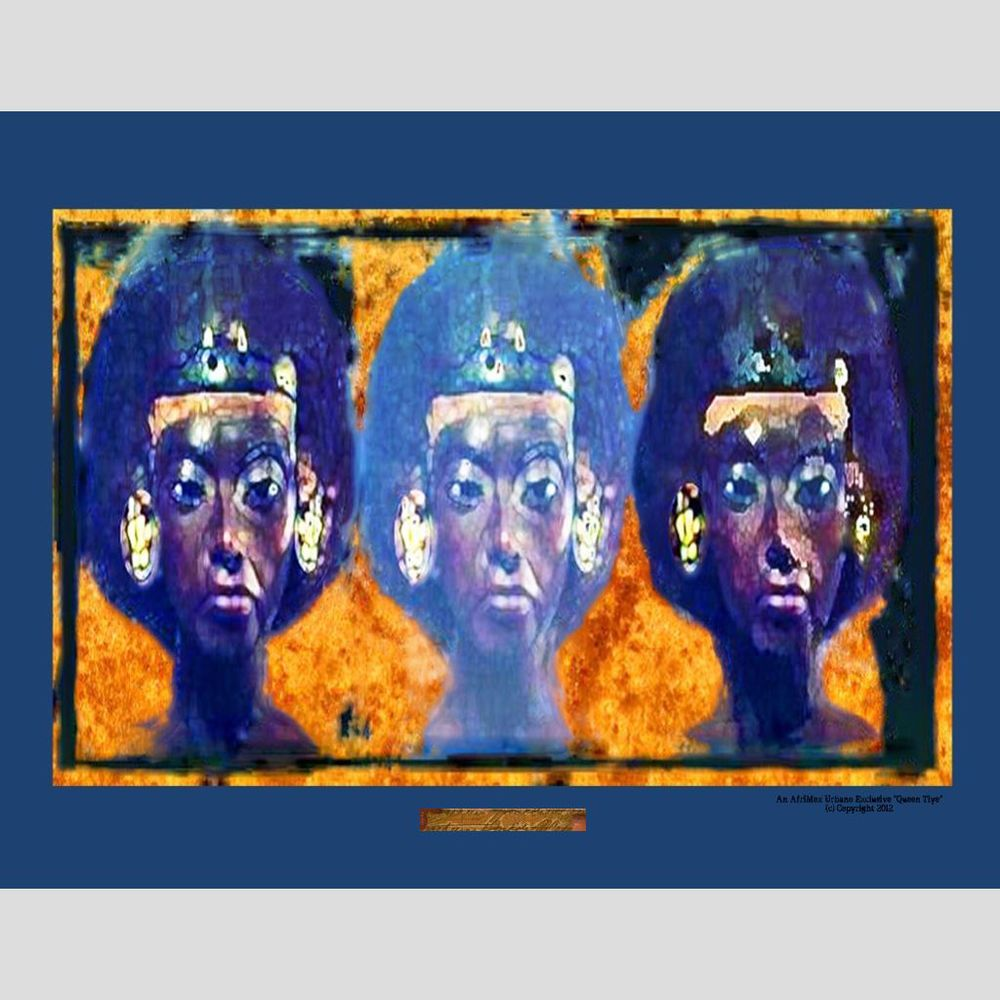 Queen Tiye Canvas Print Signature Altered Art