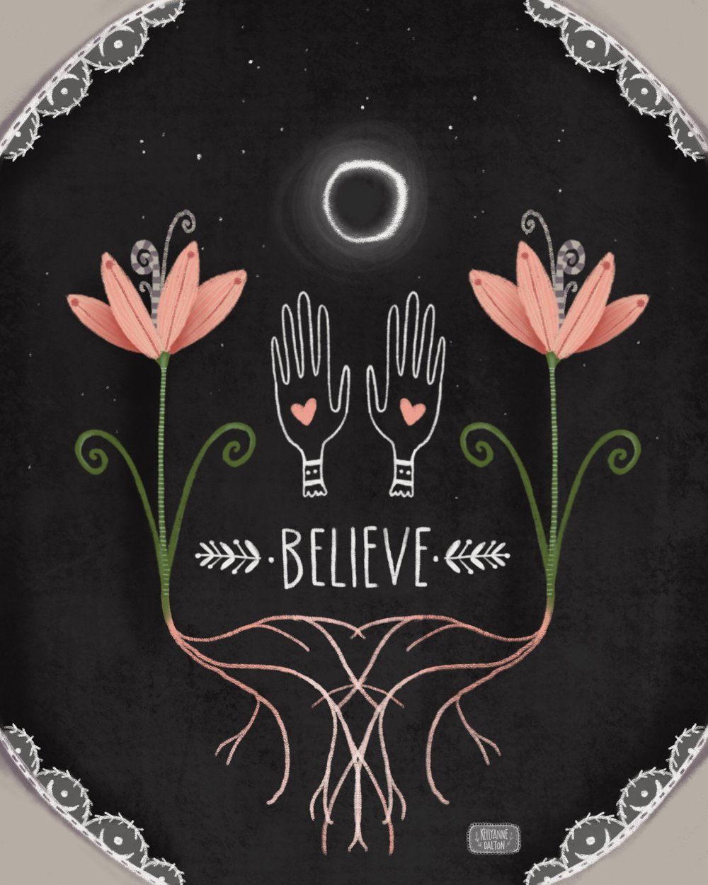 kelly anne dalton believe poster