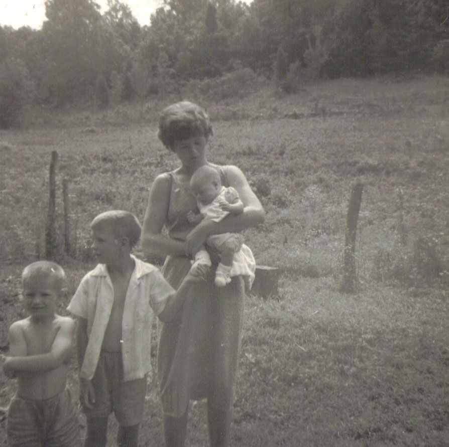 {Nan with my two uncles and my mother on July 4, 1964}