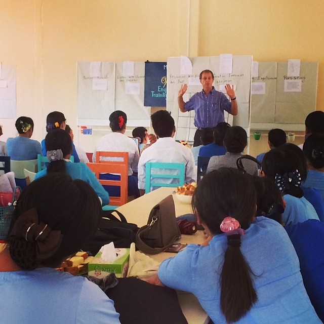 Co-founder, Greg, kicks off our first training course with 33 faculty from Mawlamyine University's English Dept... We've put together a curriculum which brings together Design-thinking, English language and 16 Habits of Mind for Educators #pointbmyanmar #