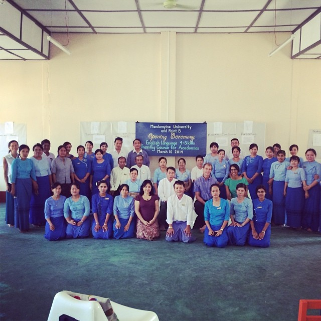 Mawlamyine University and pointB opening ceremony #groupshot #pointbmyanmar #mawlamyineuniversity #designtrainingcenter