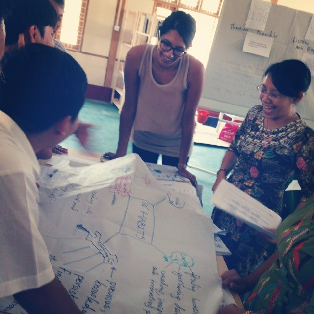 A Lesson in Visual Thinking: Mindmapping #pointbmyanmar #designthinking #mindmap