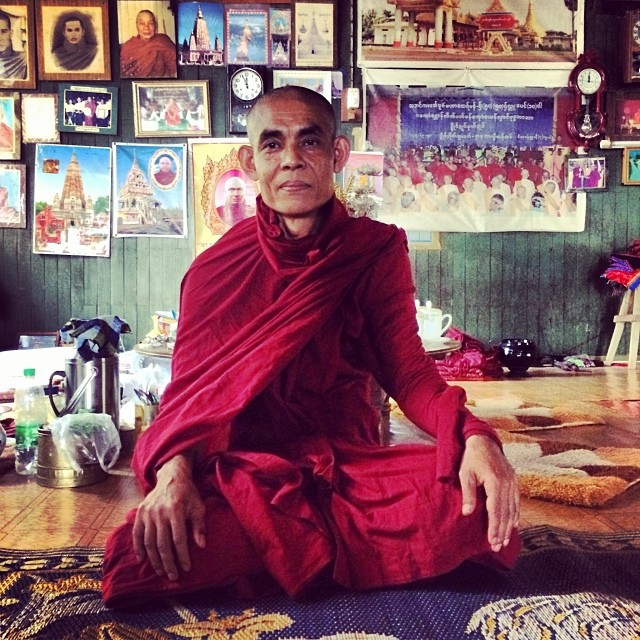 We call him Obama Monk - the kindest monk we have come across who cares deeply about educating all children in his community. Looking forward to co-creating new possibilities in Mudon township #pointbmyanmar #mudon #needsfinding