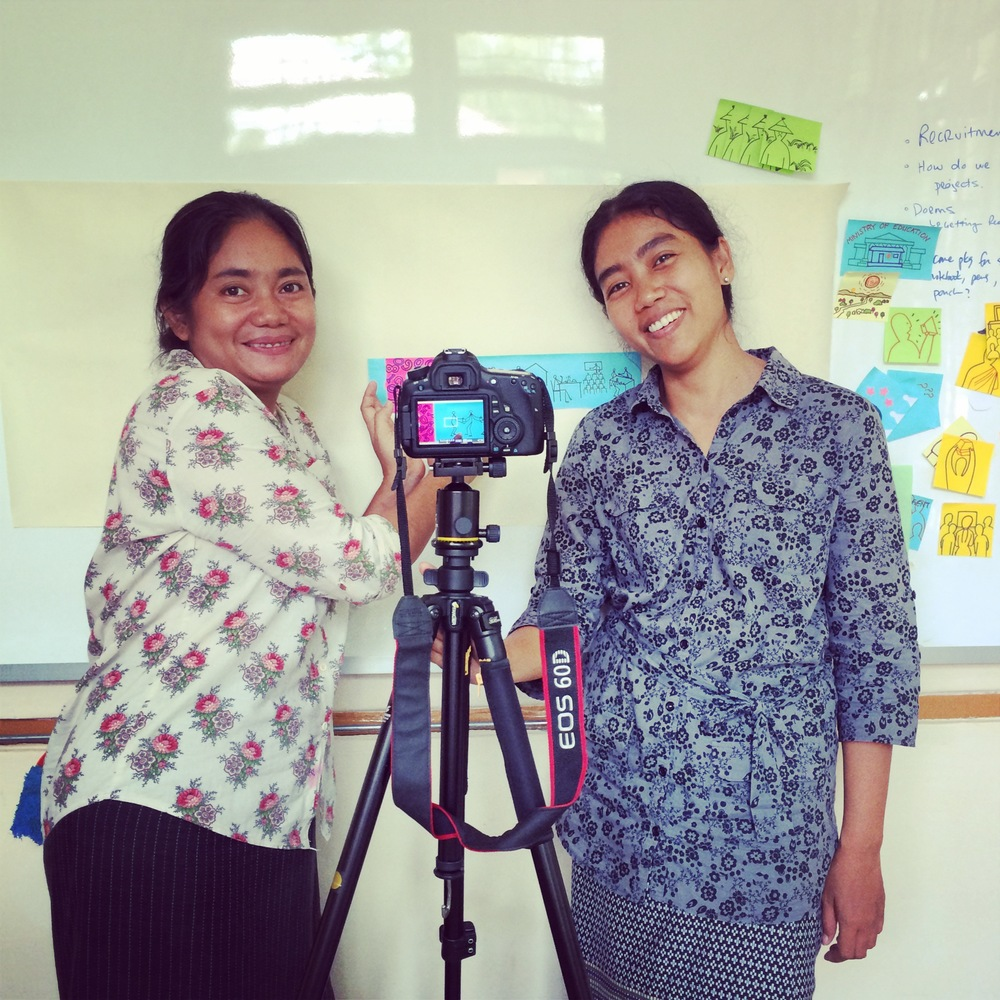 Burmese filmmaker, Wai Mar Nyunt, joins us at the Design-Thinking Center for Community Engagement this week to help us tell our story. More soon...