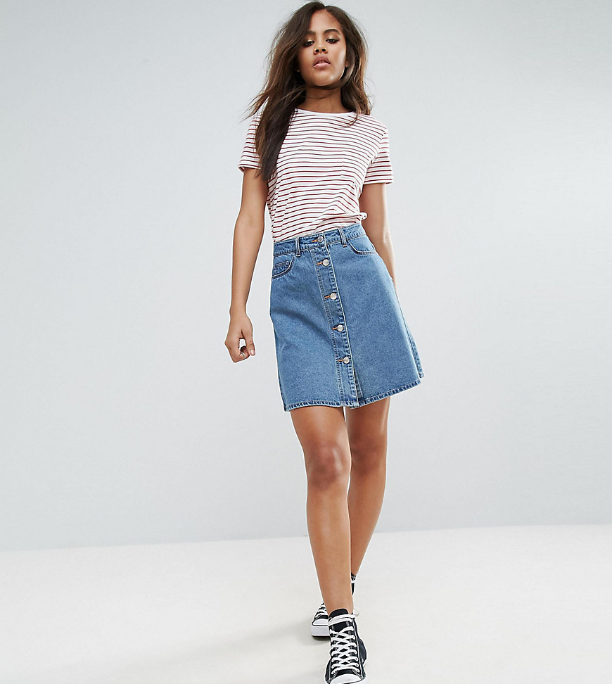 Front Button Skirt