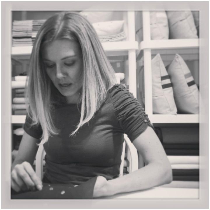 Jillian working in her studio