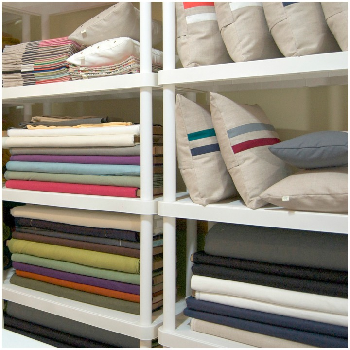 fabrics and pillows