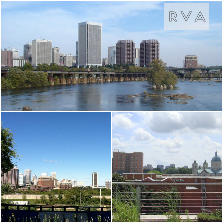 Richmond, Virginia (top and left)  VCU or Virginia Commonwealth University (right)