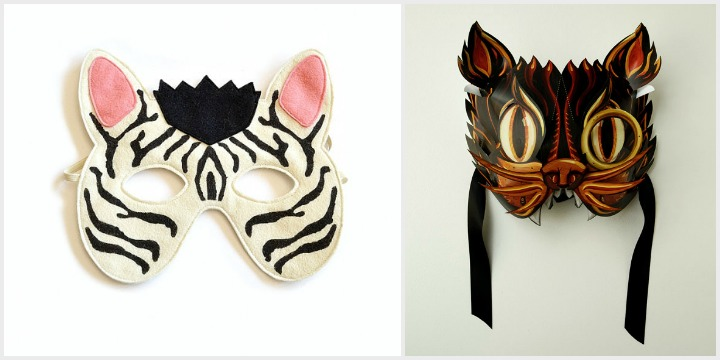 for the masquerade ball:  zebra mask by bhb kid style , cat mask by crank bunny