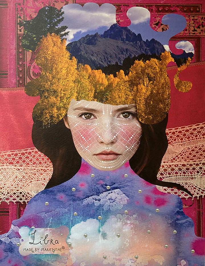 libra astrological art print  |  marenthe shop