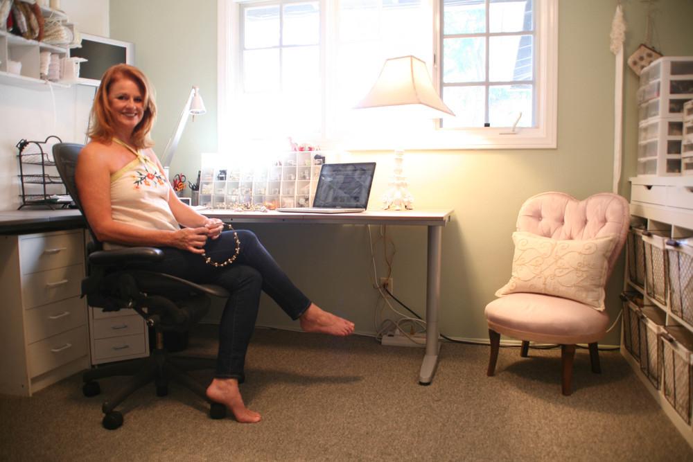 Jill in her studio.