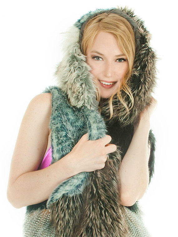 faux fur vest by Looks Good Anya