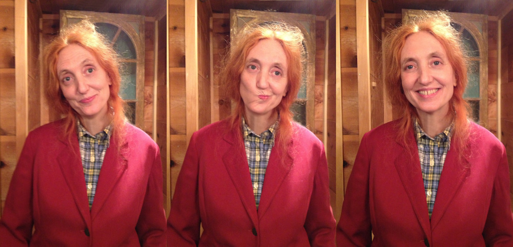 "The three faces of Miss Farfalla. ""At heart, I am a comedian""."