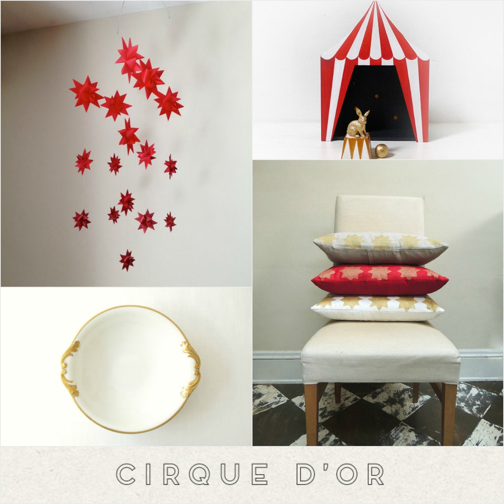 A modern circus in Red + Gold