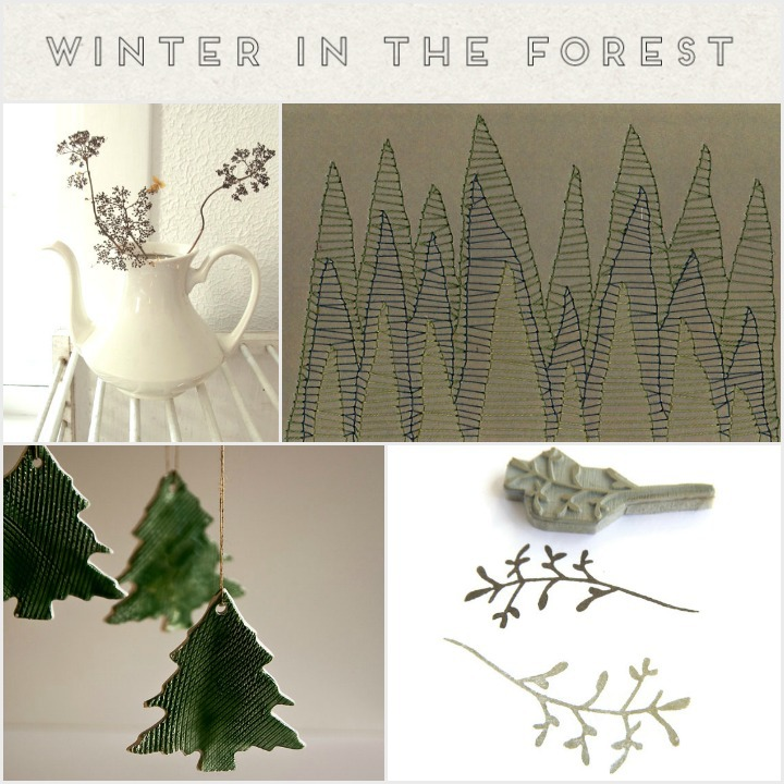 a modern winter woodland
