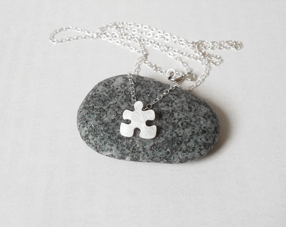 sterling silver jigsaw puzzle necklace by huiyitan