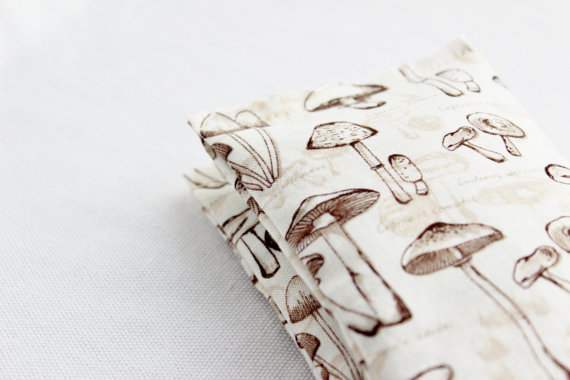 lavender sachet  with mushroom print by gardenmis
