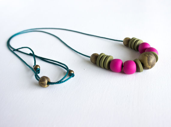 polymer clay necklace  by a quiet curiosity