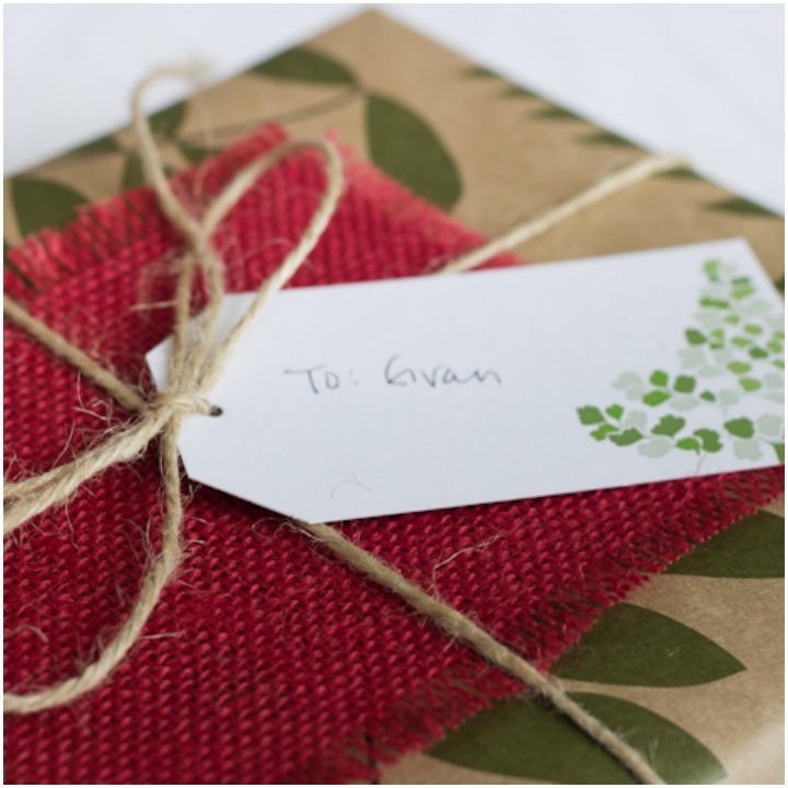 just add a fun gift tag with some ribbon or twine and show off your gift wrapping skills